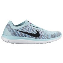 Nike Free 4.0 Flyknit Femmes chaussures bleu clair/violet MYQ853