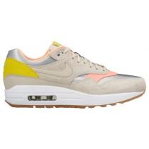 Nike Air Max 1 Premium Femmes sneakers argenté/bronzage RUL024