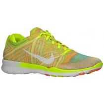 Nike Free TR 5 Flyknit Femmes baskets vert clair/Orange KOH962
