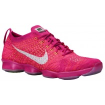 Nike Flyknit Zoom Agility Femmes chaussures de course rose/blanc YAS806
