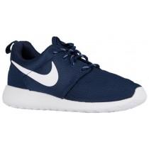 Nike Roshe One Femmes chaussures de course bleu marin/blanc TQL816