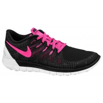 Nike Free 5.0 2014 Femmes chaussures noir/rose SDR709