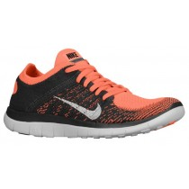 Nike Free 4.0 Flyknit Femmes chaussures de course Orange/gris ZMO733