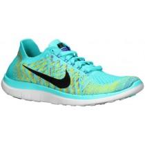Nike Free 4.0 Flyknit Femmes chaussures de course bleu clair/violet FLZ747