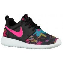 Nike Roshe One Print Premium Femmes baskets noir/rose XON609