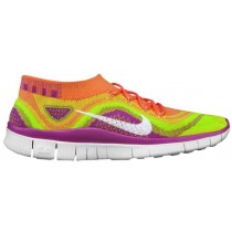 Nike Free FlyKnit+ Femmes chaussures de sport rose/blanc NQH668
