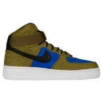 Nike Air Force 1 High Premium Suede Femmes chaussures olive verte/noir NHC751