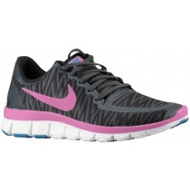 Nike Free 5.0 V4 Femmes chaussures de sport noir/gris LEK479