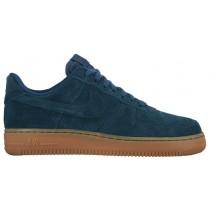 Nike Air Force 1 '07 Mid SuedeFemmes sneakers bleu marin/bronzage FLA955