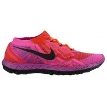 Nike Free 3.0 Flyknit Femmes chaussures rose/Orange EQR670