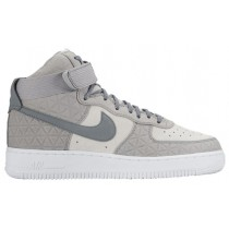 Nike Air Force 1 High Premium Suede Femmes sneakers gris/blanc LAT616