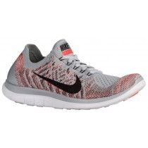 Nike Free 4.0 Flyknit Femmes chaussures de sport gris/Orange HJM751