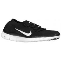 Nike Free FlyKnit+ Femmes chaussures de course noir/blanc UMT142