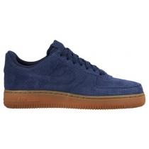 Nike Air Force 1 '07 Mid Suede Femmes chaussures de sport bleu marin/marron JND361
