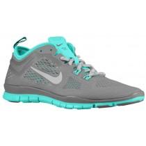 Nike Free 5.0 TR Fit 4 Femmes chaussures de course gris/vert clair ABZ022