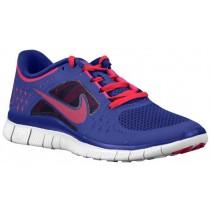 Nike Free Run + 3 Femmes chaussures de course bleu marin/rose VVL596