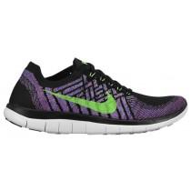 Nike Free 4.0 Flyknit Femmes baskets noir/vert clair XJQ455