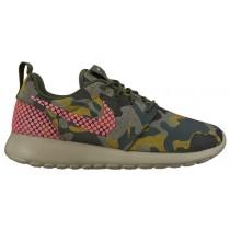 Nike Roshe One Premium Plus Femmes chaussures de course olive verte/vert foncé HVC000
