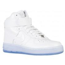 Nike Air Force 1 Mid Femmes baskets blanc/bleu clair AIE926