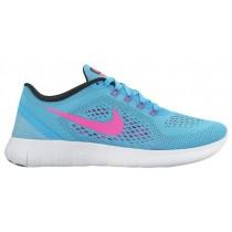 Nike Free RN Femmes sneakers bleu clair/rose YQC621