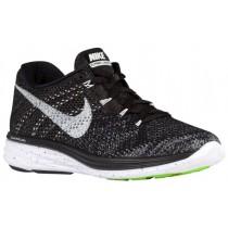 Nike Flyknit Lunar 3 Femmes chaussures de course noir/gris QVF091