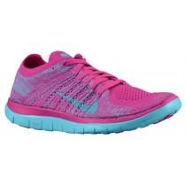 Nike Free 4.0 Flyknit Femmes sneakers rose/bleu clair WCK782