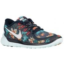 Nike Free 5.0 2015 Femmes sneakers bleu marin/vert clair TTR232