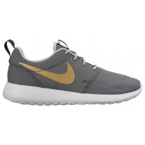 Nike Roshe One Femmes chaussures de course gris/or KBE363