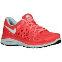 Nike Dual Fusion Run 2 Femmes chaussures de course rouge/gris VER008