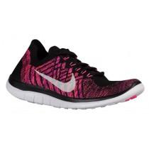 Nike Free 4.0 Flyknit Femmes chaussures noir/rose GIV479