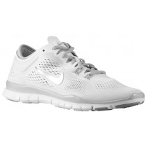 Nike Free 5.0 TR Fit 4 Femmes chaussures de sport blanc/argenté CHJ430