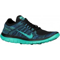 Nike Free 4.0 Flyknit Femmes chaussures de sport noir/bleu XXV552