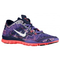 Nike Free 5.0 TR Fit 4 Femmes baskets violet/bleu marin NIC536