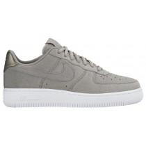 Nike Air Force 1 '07 Low Premium Suede Femmes chaussures de sport gris/blanc VBR050