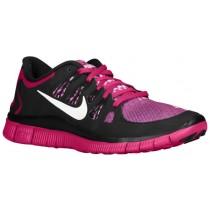 Nike Free 5.0+ Femmes chaussures de sport noir/rose DRS769