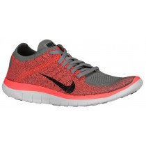 Nike Free 4.0 Flyknit Femmes baskets gris/Orange XWR906