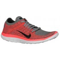 Nike Free 4.0 Flyknit Femmes baskets gris/Orange XWR906
