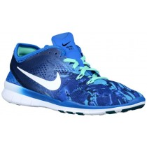 Nike Free 5.0 TR Fit 5 Femmes chaussures de course bleu clair/bleu AQO954