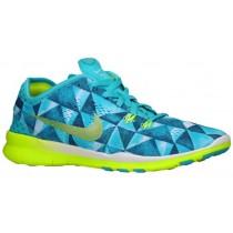 Nike Free 5.0 TR Fit 5 Femmes baskets bleu clair/vert clair WMN806