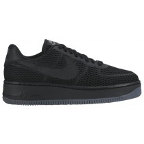 Nike Air Force 1 Low Upstep BR Femmes baskets Tout noir/noir DLY383