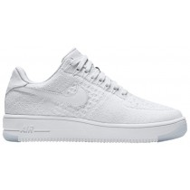 Nike Air Force 1 Low Flyknit Femmes chaussures Tout blanc/blanc VYE730