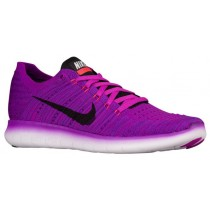 Nike Free RN Flyknit Femmes chaussures de sport violet/noir LER582