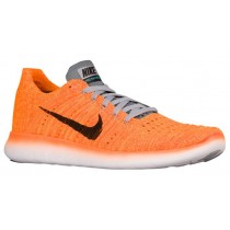 Nike Free RN Flyknit Femmes chaussures de course Orange/noir MPO354