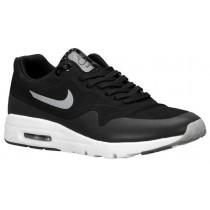 Nike Air Max 1 Ultra Moire Femmes chaussures de sport noir/argenté YKF288