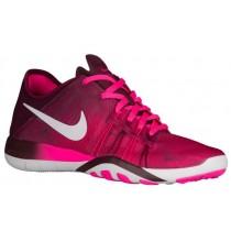 Nike Free TR 6 Femmes chaussures de course rose/blanc DGM152