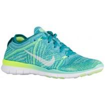 Nike Free TR 5 Flyknit Femmes sneakers bleu clair/blanc QAQ614