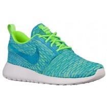 Nike Roshe One Flyknit Femmes baskets vert clair/bleu clair LZB816
