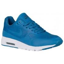 Nike Air Max 1 Ultra Moire Femmes chaussures de course bleu/blanc GYM246