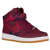 Nike Air Force 1 Ultra Force Mid PRT Camo Print Femmes sneakers bordeaux/rouge TVM962