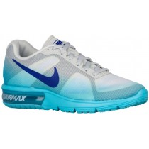 Nike Air Max Sequent Femmes chaussures de course blanc/bleu RCE468